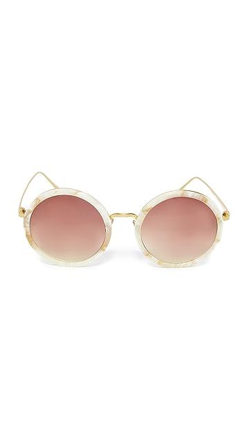 Linda Farrow Luxe 圆形太阳镜