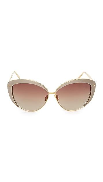 Linda Farrow Luxe 猫眼太阳镜