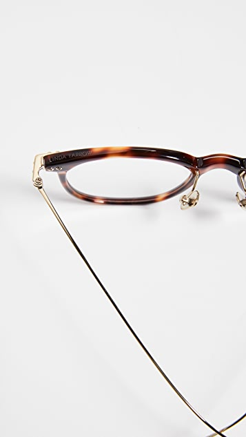 Linda Farrow Luxe Linear Optical 超大太阳镜