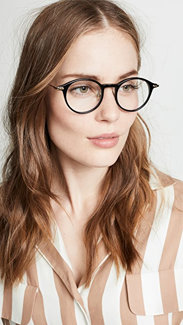 Linda Farrow Luxe Linear Optical 圆形眼镜