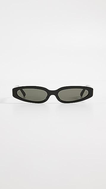 Linda Farrow Luxe Super 小巧醋酸纤维塑料太阳镜