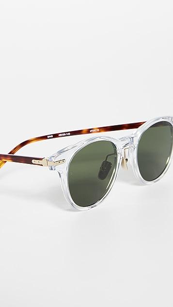Linda Farrow Luxe 透明醋酸纤维塑料小号太阳镜