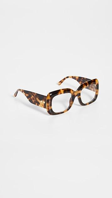 Linda Farrow Luxe 醋酸酯矩形眼镜