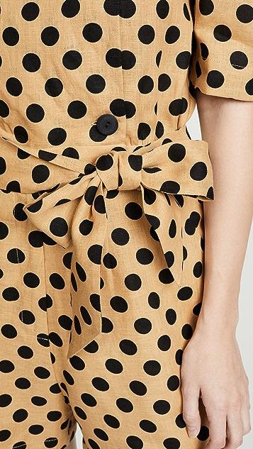 Lisa Marie Fernandez Diana 亚麻短款连身衣