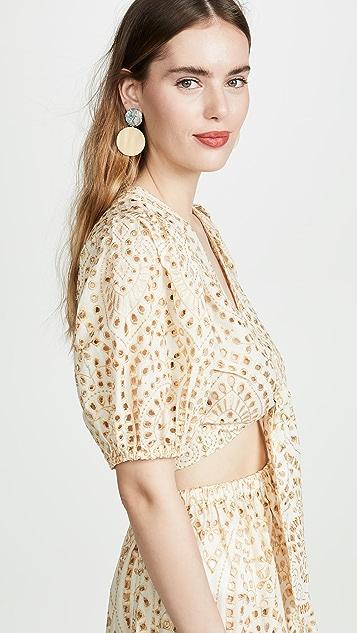 Lisa Marie Fernandez 圆孔绑带女式衬衫