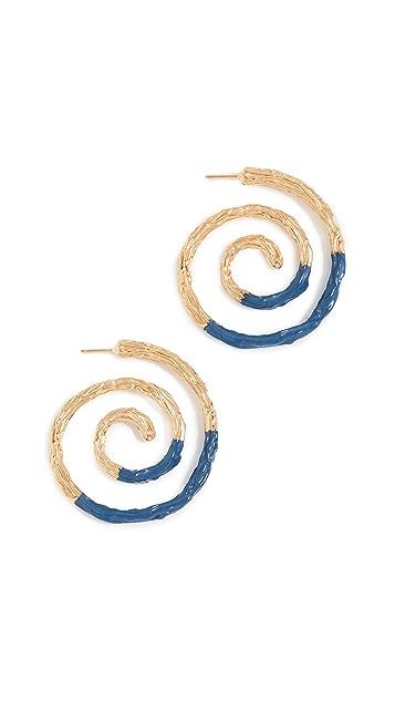 Lizzie Fortunato Spiral 耳环