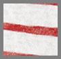 红色/自然白条纹