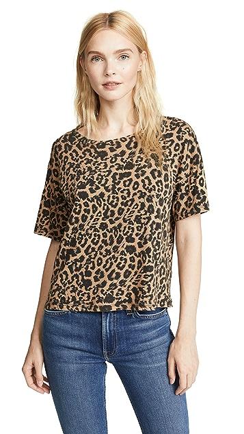 LNA 豹纹直筒圆领 T 恤