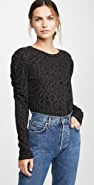 LNA 黑色豹纹闪电形长袖 T 恤