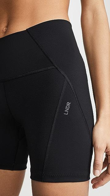 LNDR 紧身款机车短裤