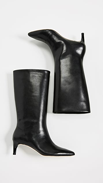 Loeffler Randall Naomi 方锥矮跟高筒靴