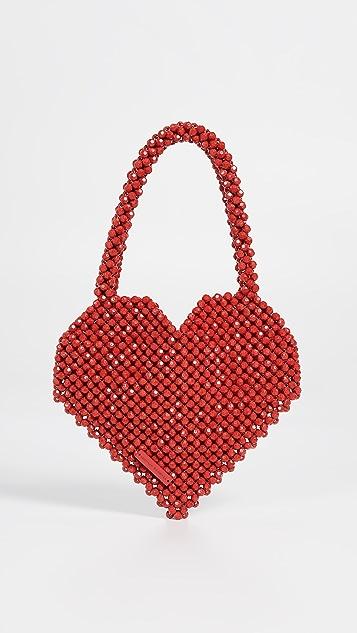 Loeffler Randall Maria 饰珠心形手提袋