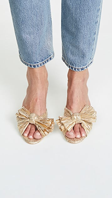 Loeffler Randall Emilia 裥褶结饰穆勒鞋