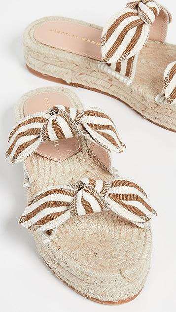Loeffler Randall 雏菊双蝴蝶结厚底凉鞋
