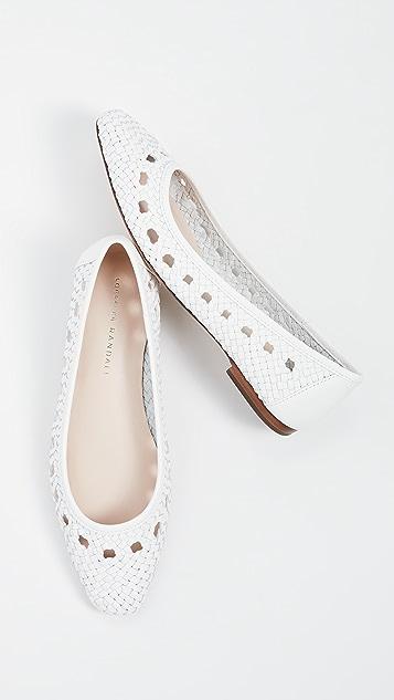 Loeffler Randall Maura 梭织皮芭蕾舞平底鞋