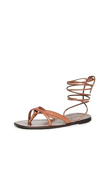 Loeffler Randall Lilla 环绕式夹趾凉鞋
