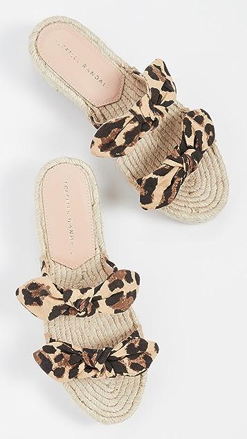 Loeffler Randall 雏菊编织底坡跟绑带凉鞋