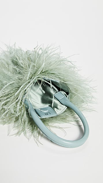 Loeffler Randall Zadie 羽毛圆形手提袋