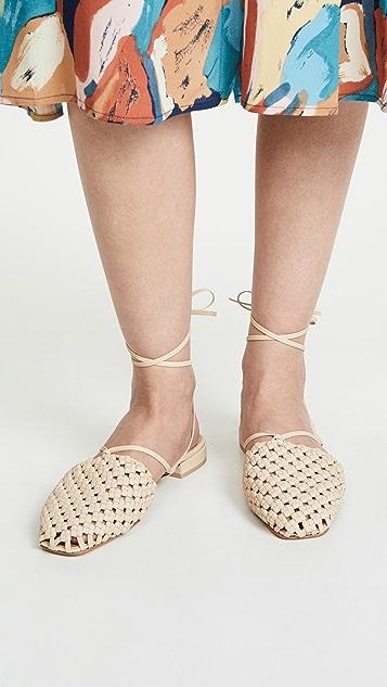 LOQ Costa 梭织系带平底鞋
