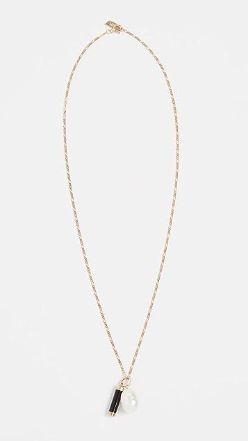 Loren Stewart 14k 珍珠和吊坠项链