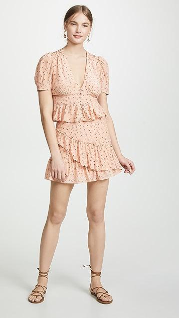 LOVESHACKFANCY Piper 半身裙