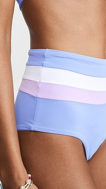 L*Space Portia 条纹比基尼泳裤