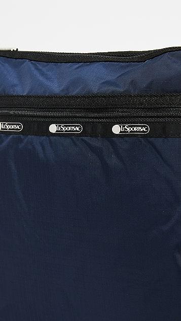 LeSportsac Rebecca 大号顶部拉链半月形信使包
