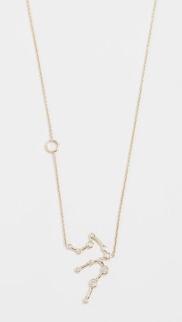 Lulu Frost 14k 金水瓶座白钻项链