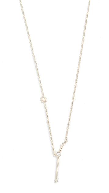 Lulu Frost 14k 金白羊座白钻项链