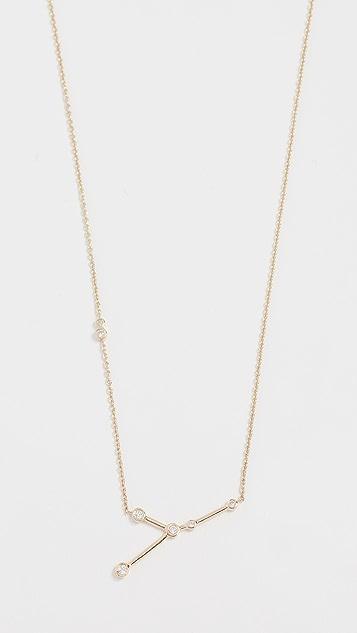 Lulu Frost 14k 金巨蟹座白钻项链