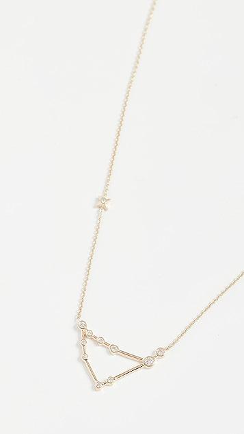 Lulu Frost 14k 金摩羯座白钻项链