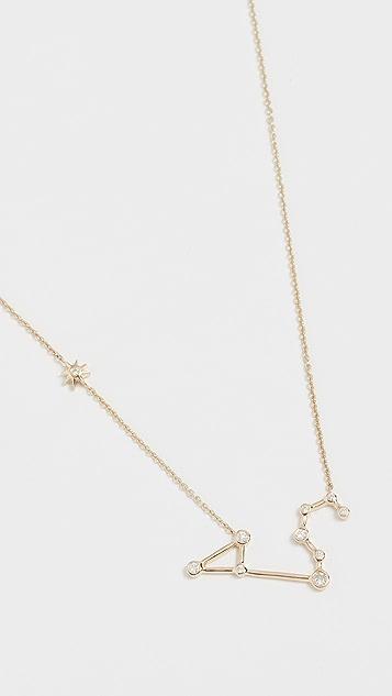 Lulu Frost 14k 金狮子座白钻项链