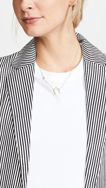 Lulu Frost 14k 金天秤座白钻项链