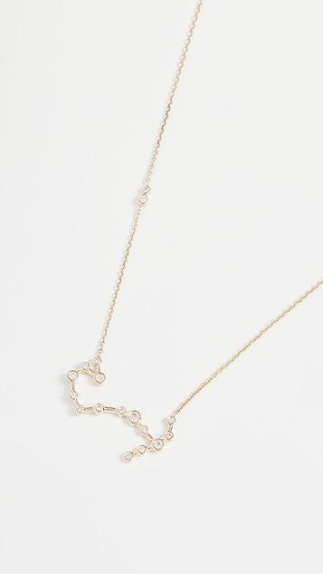 Lulu Frost 14k 金天蝎座白钻项链