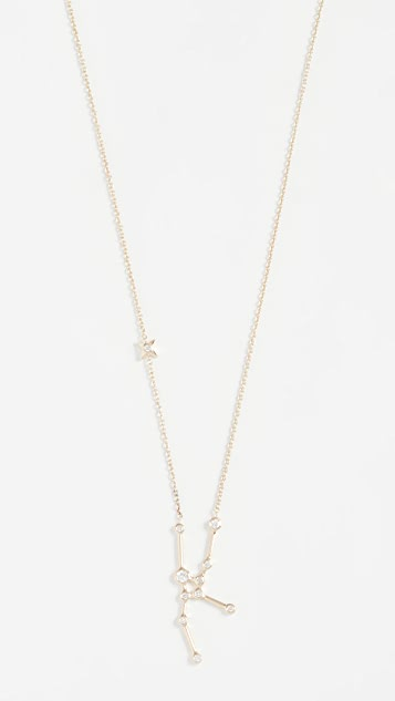 Lulu Frost 14k 金金牛座白钻项链