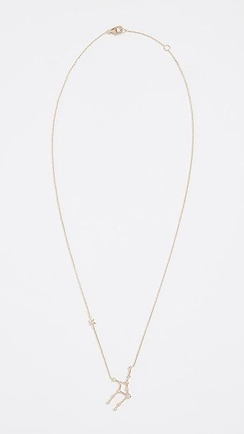 Lulu Frost 14k 金处女座白钻项链