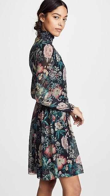 La Vie Rebecca Taylor 长袖褪色花园连衣裙