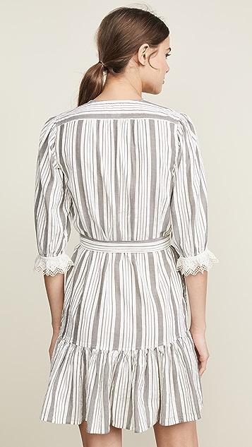 La Vie Rebecca Taylor 长袖圆孔条纹连衣裙