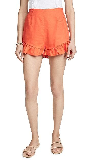Lost + Wander Papaya 短裤