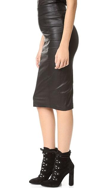 Mackage Lucille 皮革半身裙