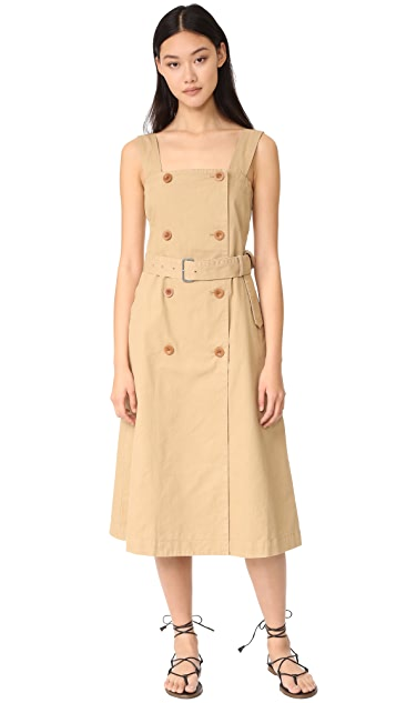 Madewell 防水面料连衣裙