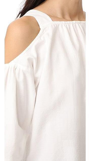 Madewell 绑带袖肩部镂空上衣