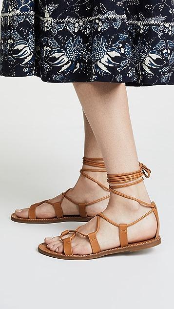 Madewell Outstock 系带凉鞋