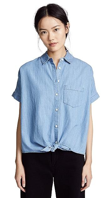 Madewell 青年布前绑带衬衣