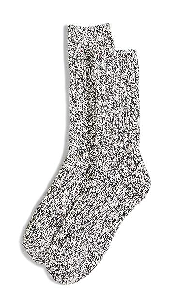 Madewell Fiesta 竹节纹双色纱线裤袜