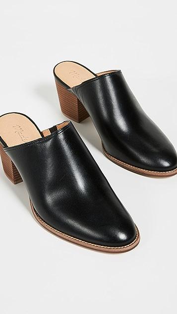 Madewell Harper 粗跟穆勒鞋
