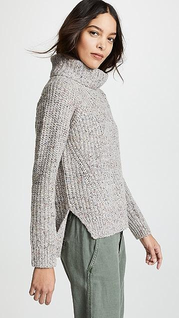 Madewell 彩色斑点罗纹高领毛衣