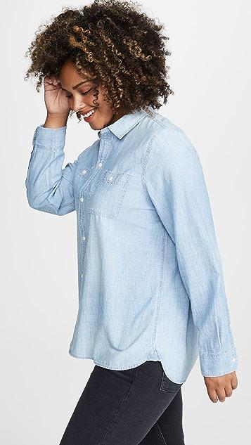Madewell 男孩风经典青年布系扣衬衣
