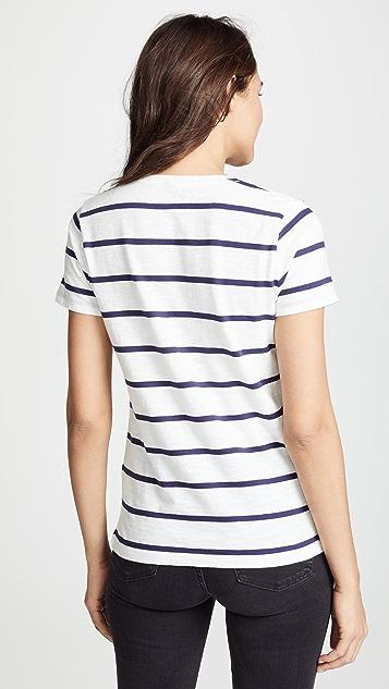 Madewell Whisper 条纹 T 恤