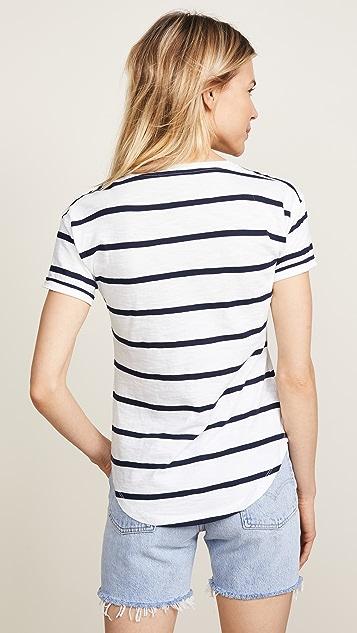 Madewell 细条纹圆领 T 恤